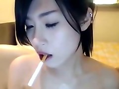 Asian, Smoking, Cute
