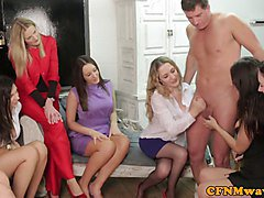 Group, Femdom, Party