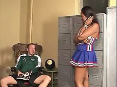 Ebony, Cheerleader, Creampie