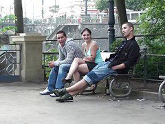 Public, Threesome, Outdoor
