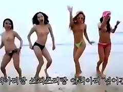 Group, Korean, Beach